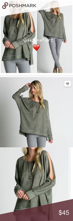 Spotted while shopping on Poshmark: New French Terry Tunic cold shoulder! #poshmark #fashion #shopping #style #Vivacouture #Tops