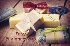 Making soap isn't difficult. Today I'm sharing my quick and easy beginner soap recipe with fun ideas for personalizing it by adding exfoliants, essential oils, etc.