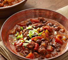 Quick & Easy Dinner Recipes - Beef and Black Bean Chili - Click Pic for 40 Cheap & Healthy Meals on a Budget