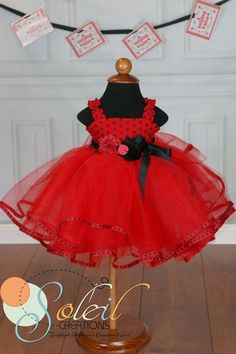 Ladybug Birthday Party Costume or Outfit for Girls , Ladybug tutu for babies