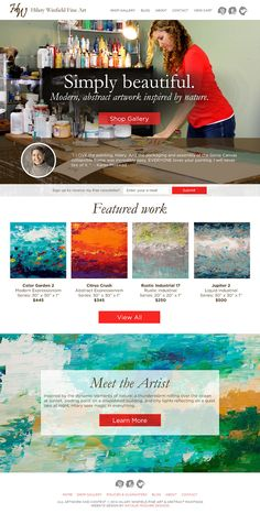 Hilary Winfield: Portland Fine Artist, Painter, Website Design