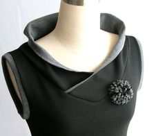Spring top Vest top. Custom Sleeveless blouse Black by tasifashion, $69.00 CUTE!