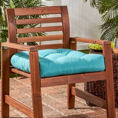 Driftwood Marine Blue Outdoor Chair Cushion by Havenside Home (Aqua Blue)(Polyester, Solid), Outdoor Cushion Replacement Chair Cushions, Outdoor Lounge Chair Cushions, Outdoor Dining Chair Cushions, Patio Cushions, Patio Chairs, Cushions On Sofa, Metal Chairs, Outdoor Furniture, Dining Chairs