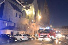 Wiener Neustadt: Brand im Wiener Neustädter Dom Dom, Fire Department