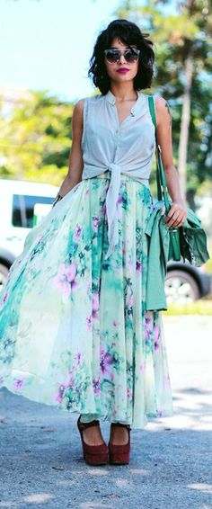 Floral and Frill Maxi Skirt - Retro, Indie and Unique Fashion Floral Fashion, Unique Fashion, The Maxx, Floral Maxi, Street Chic, Dress Me Up, Pretty Outfits, Passion For Fashion, Dress To Impress