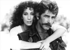 Sam Elliott and Cher - MASK. One of my favorite movies from back in the day. Vintage Hollywood, Classic Hollywood, Cher Photos, Katharine Ross, Cher Bono, Sam Elliott, Cinema, Film Archive, Guys And Dolls