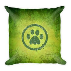 Paws - Double Sided Throw Pillow -  Get this double Sided Print Pillow Now! Specs: DOUBLE SIDED PRINT! - Get Two Pillows in One for the SAME PRICE! Individually Handmade in California Velvety soft, comfy and cushiony texture Filled with a nice puffy stuffing Durable Pillow case is machine washable Concealed Zipper Pillow insert included (handwash only) Resilient polyester filling retains shape #heart #art #pets #pillow #pillows #homedecor #gift #cute #DogzPrinted #paws