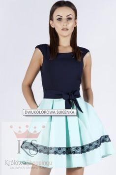 Rozkloszowana sukienka z kokardką miętowa // fashion4u.pl #sukienka #sukienki #sukienkanawesele #dresses #cocktaildress #vestidos Skirts, Fashion, Vestidos, Moda, Fashion Styles, Skirt, Fasion, Skirt Outfits