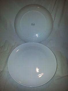"Corning Centura White Coupe Dinner Plates 10""  Set of 4"