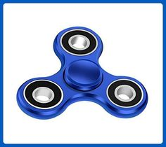 Maxesla 2-4 Mins Hand Spinner EDC Fidget Toy, Blue Titanium Alloy Stress Reducer High Speed Anti-Anxiety Finger Tri-Spinner Relief Toys for Focus, Killing Time, Kids & Adults - Fidget spinner (*Amazon Partner-Link)