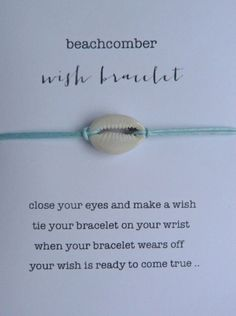 wish bracelet or anklet lucky cowrie shell by beachcombershop