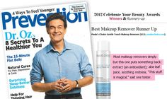 Best Makeup Remover: Prevention Magazine - October 2012