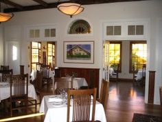 Another view of the dining room at Elderberry Pond in Auburn.  The restaurant services fresh seasonal ingredients from their farm. http://www.elderberrypond.com/