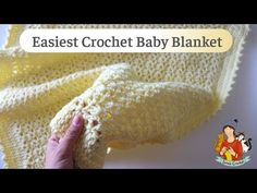 İn this video I'm going to show you how to crochet an easy baby blanket. Crochet Ripple Blanket, Afghan Crochet Patterns, Baby Patterns, Crochet Afghans, Crochet Blankets, Baby Blankets, Stitch Patterns, Basic Crochet Stitches, Crochet Basics