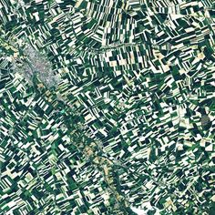 Châlons en Champagne, the capital of France's champagne growing region, sits about 150 km to the northeast of Paris. The town was captured earlier today by Landsat 8, and can be see in the upper left corner of this image. In this image, measuring approximately 30 km to a side, outside of the town we see mostly agricultural fields #satellite #landsat