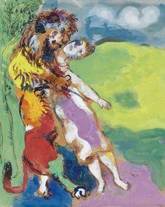 Le lion amoureux (Fables de La Fontaine) (1929) - Marc Chagal