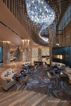 Hotel decor is always an impeccable inspiration to any home interior project. Get to know how this lighting hospitality projects are something to get a peak at! Luxury Hotel Design, Hotel Lobby Design, Luxury Homes, Modern Hotel Lobby, W Hotel, Hotel Reception, Hotel Decor, Hotel Interiors, Suites