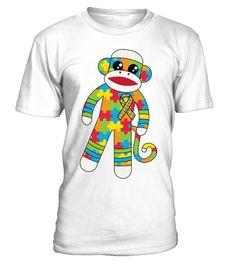 # Autism monkey light autism monk - Tshirt .  Autism monkey light autism monk - Tshirt