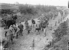 Gordon Highlanders, repairing a road; near Hamel, on the Somme Front, September 1916
