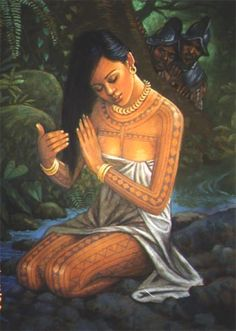"A girl's first menstruation was celebrated. it was seen as a crucial period in womanhood. Girls were required to go through an ""intricate rite of passage."" It was seen as ""dating"" amonst the Tagalogs. Philippine Mythology, Philippine Art, Filipino Art, Filipino Culture, Traditional Filipino Tattoo, Filipino Funny, Filipino Tribal Tattoos, Samoan Tattoo, Ethnic Tattoo"