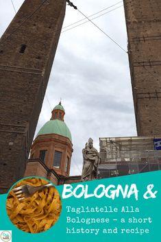 Tagliatelle Alla Bolognese in Bologna. A short history, recipe and video via @DishOurTown #foodandtravel #recipe #bolognese
