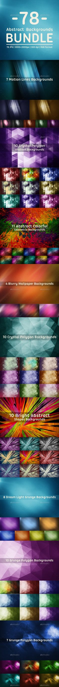 This pack contains 78 jpg abstract backgrounds for your projects. You can use this backdrops in your own design, in Web Sites, We