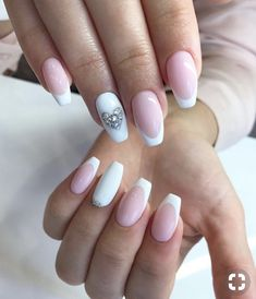 French Nail design in new app! More 85 wedding nail art ideas - French Nail design in new app! More 85 wedding nail art ideas - French Nails, Gel French, French Manicures, French Tip Nail Designs, Simple Nail Designs, Nail Art Designs, Bridal Nails, Wedding Nails, Nail Art For Beginners