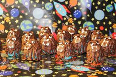 Star Wars party Monster cakes.