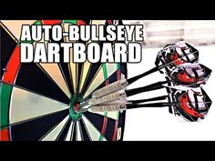 "Automatic Moving Dartboard Ensures A Perfect Bullseye With Every Throw  #darts #DIY #robots #sports If you are like most people who enjoy throwing darts, you are probably not hitting anywhere near the ""bulls eye"" - the center of the dartboard, co..."