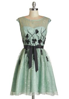 I Had a Vision of Lovely Dress. Youre feeling positively dreamy in this enchanting frock! #mint #prom #modcloth