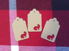 Die Cut Fancy Fox Tag by NatureCuts on Etsy