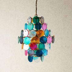 Can choose glass colours. Orb Chandelier with multi coloured glass roundels Pendant Lights American Craftsman, Craftsman Style, Pooky Lighting, Painting On Glass Windows, Chandelier Pendant Lights, Chandeliers, Glass Birds, Arts And Crafts Movement, Kugel