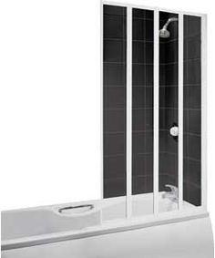 Details about Fold Away Shower Screen Over Bath Folding