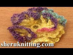 Big Crochet Flower Tutorial 62 Part 1 of 3 Crochet 3-Layered Center - YouTube
