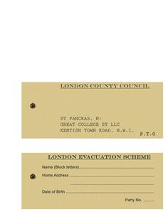 Homemade London Evacuee Tag Ww School Stuff Tags Homemade School With World War 2 Identity Card Template - Professional Templates Ideas Visiting Card Templates, Free Business Card Templates, Best Templates, Label Templates, Gift Card Template, Birthday Card Template, Birthday Cards For Mom, Diy Holiday Cards, Printable Christmas Cards