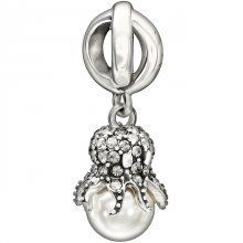 Chamilia 2025-1093 Octopus Garden Charm - The rolling surf and beauty of the deep blue ocean will always be remembered with the Octopus Garden charm. Holding a stunning creamrose Swarovski pearl, the sterling silver and Swarovski crystal octopus is the perfect addition to any bracelet or necklace #chamilia #octopus #charmbead #kairosjewellery