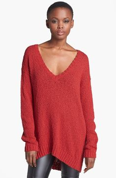 oversized knit sweater - love these with skinny jeans!