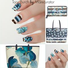 Nail Art Fashion Week 2015 Day 3 - Bag - Tory Burch with Zoya. Freehand designs. Zoya shades used: Jacqueline, Lillian (shown in photo), Louise, Hunter, Tracie, Boy Toi, Timo, Edie, Natty, Rocky, Blu. I also mixed some of these shades together.