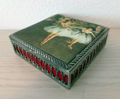 Vintage Silver Box Ballerina Home Decor 1950s by TossedTreasures, $35.00