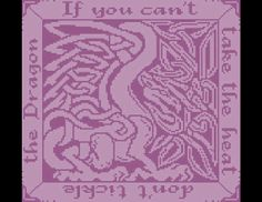 Celtic Knot Dragon - Filet Crochet Pattern $4.00