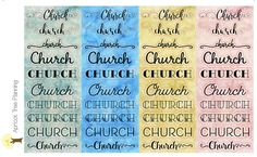 Church Stickers for your Planner or Calendar by apricottreeplanning on Etsy