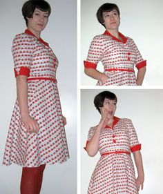 The amanita dress. First dress from self-drafted pattern. Short Sleeve Dresses, Dresses With Sleeves, Sewing, Pattern, Fun, Inspiration, Clothes, Fashion, Biblical Inspiration