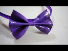Tutorial Jahitan Manik : How to make a flat duct tape hair bow -     - http://maribelajarsulamanmanik.com/tutorial-jahitan-manik-how-to-make-a-flat-duct-tape-hair-bow/