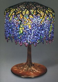 Wisteria Lamp  designed by Clara Driscoll from A New Light on Tiffany: Clara Driscoll and the Tiffany Girls-seen at the Albuquerque Museum of Art and History 7/27/11