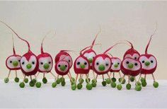 Radish Martians cute for a monster party!
