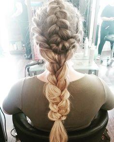 Loving this beautiful  braid by @ellenblackadder #braids #behindthechair #festivalhair