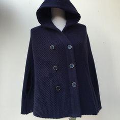 Vintage poncho , cashmere wool