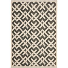 Give guests something to admire at your next outdoor party with this bold indoor-outdoor area rug. With a low pile and a striking geometric design, this rug is also suitable for high-traffic indoor areas, providing a focal point that's hard to ignore.