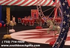 Circus theme party decoration Carousel horses for your room decoration or for your table top as center pieces. Perfect for Amusement park event, Sweet 16th, 15th birthday or Bar/Bat Mitzvah. Carnival theme for your child's 1st birthday or  for a Fun party! Our carousal horses come in 12 colors to pick from to match your décor. sold by: www.southbeachgifts.com  call to order 732-714-1600. email us joans.gifts@verizon.net