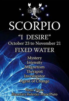 Scorpio...and therapist!!